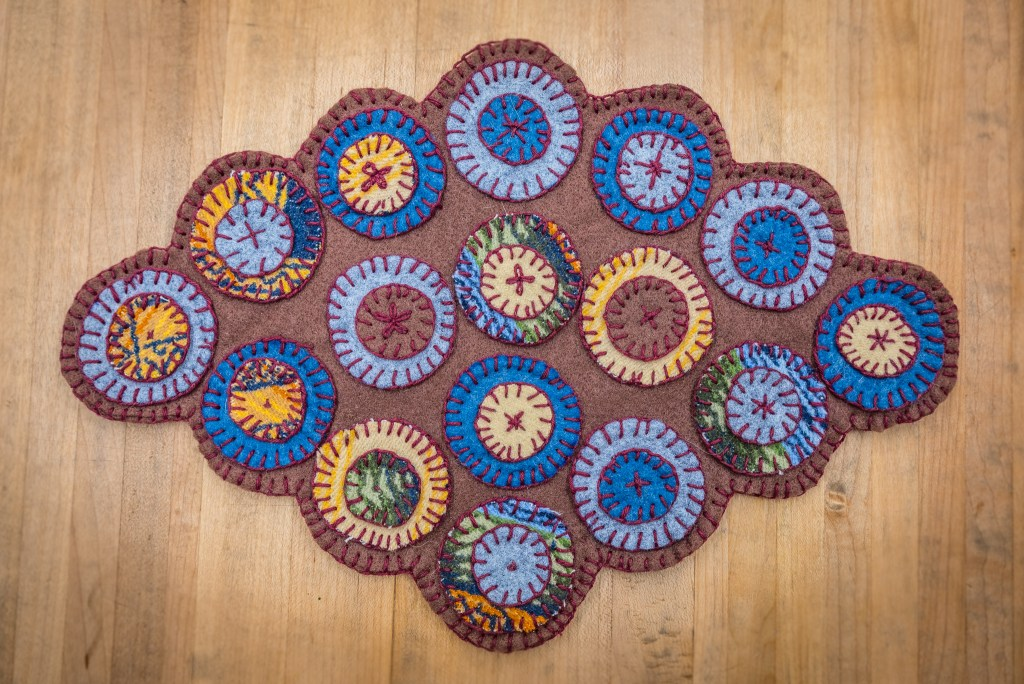 Penny Rug Table Runner at the Duluth Folk School