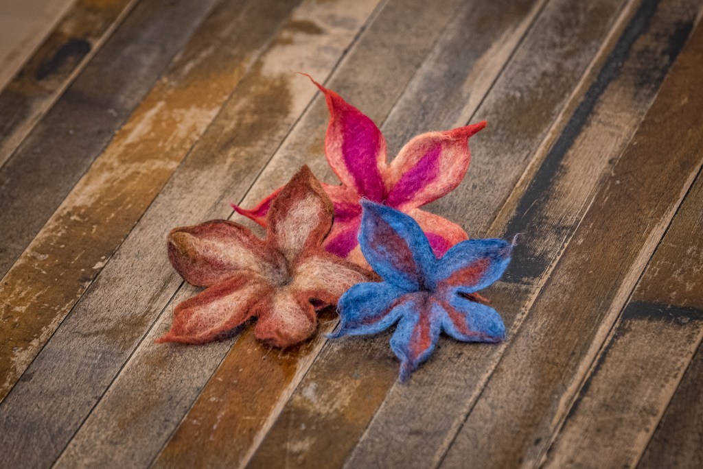 Felted Flowers at the Duluth Folk School