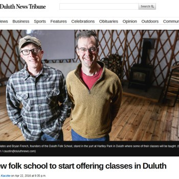 Duluth News Tribune Article