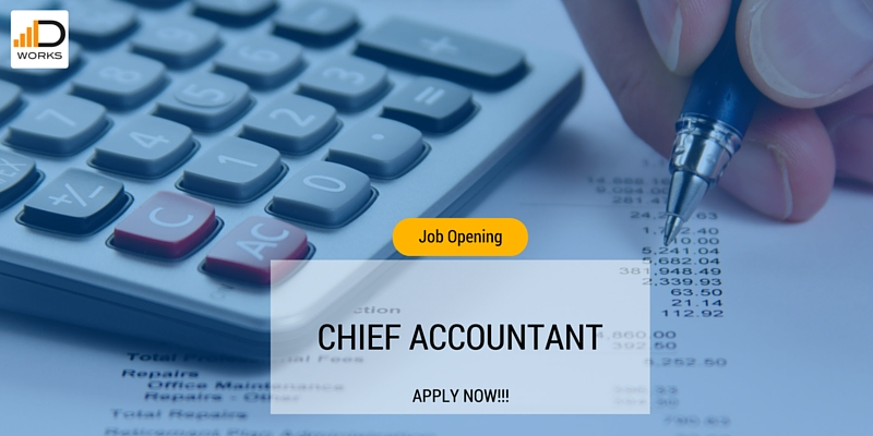 PTL is looking for Chief accountant