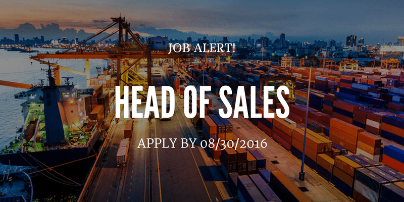 Apply to be the Head of Sales for a shipping company