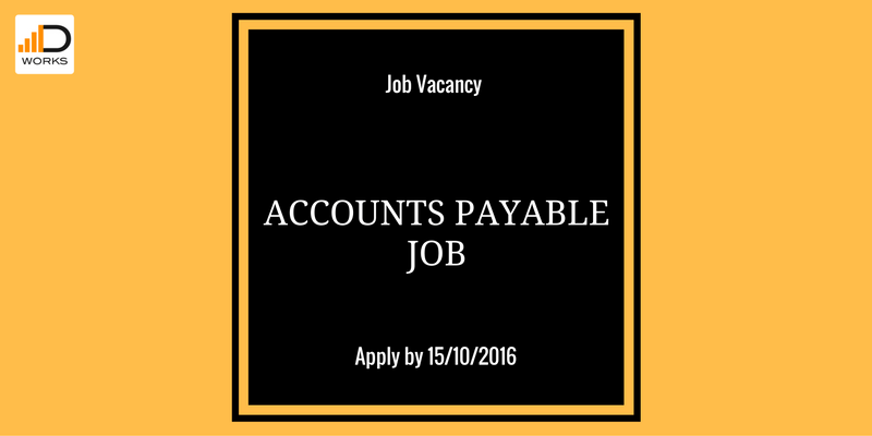 Apply for the Accounts Payable role,to get a chance to advance in your career.