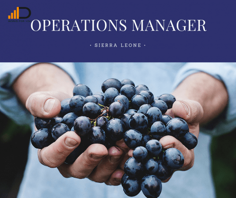 Apply for the Operations Manager (Agronomy) in a great social enterprise in Sierra Leone.
