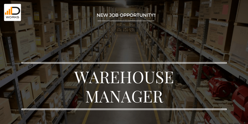 Warehouse Manager job opening.