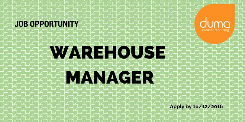 Warehouse Manager job application.