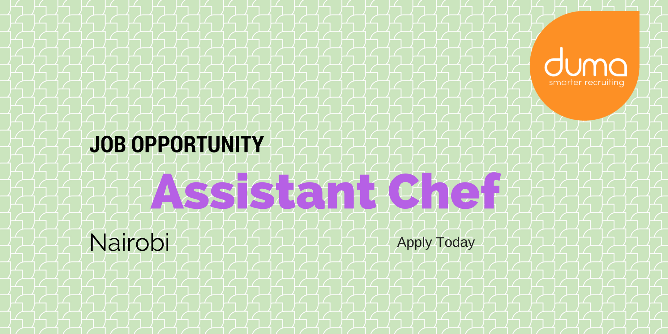 Apply for this Assistant Chef Vacancy
