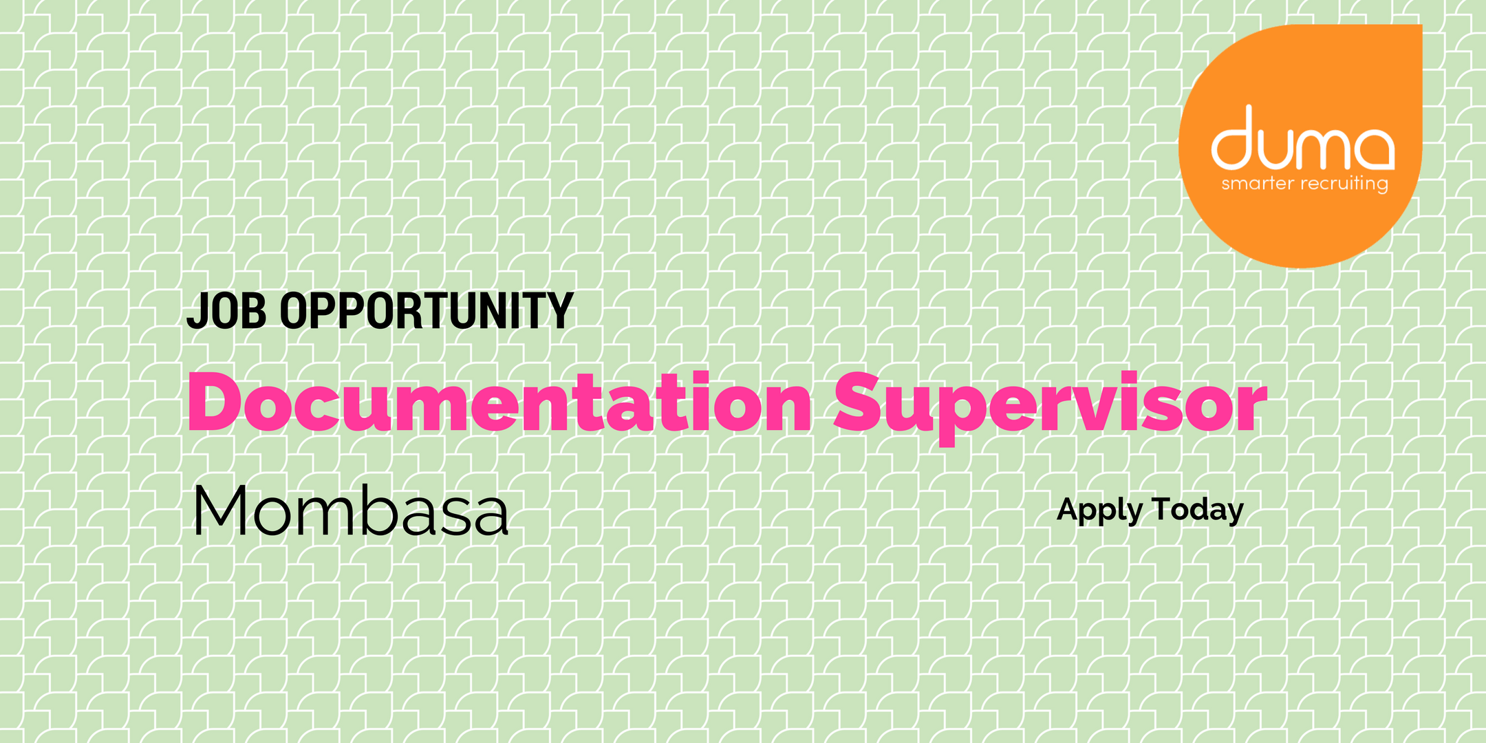Apply for this Documentation Supervisor today