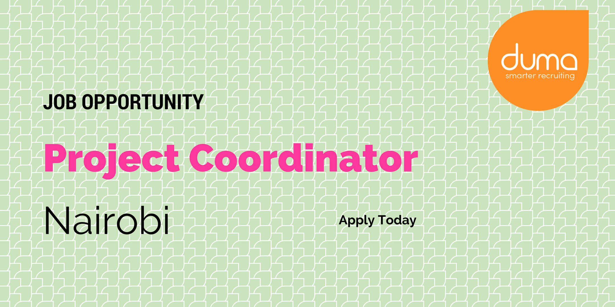 Applications for project coordinator job vacancy in Nairobi