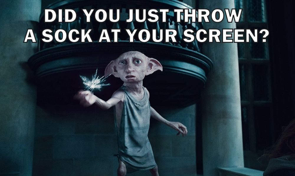 Meme of a pissed off Dobby from harry potter understanding javascript functions