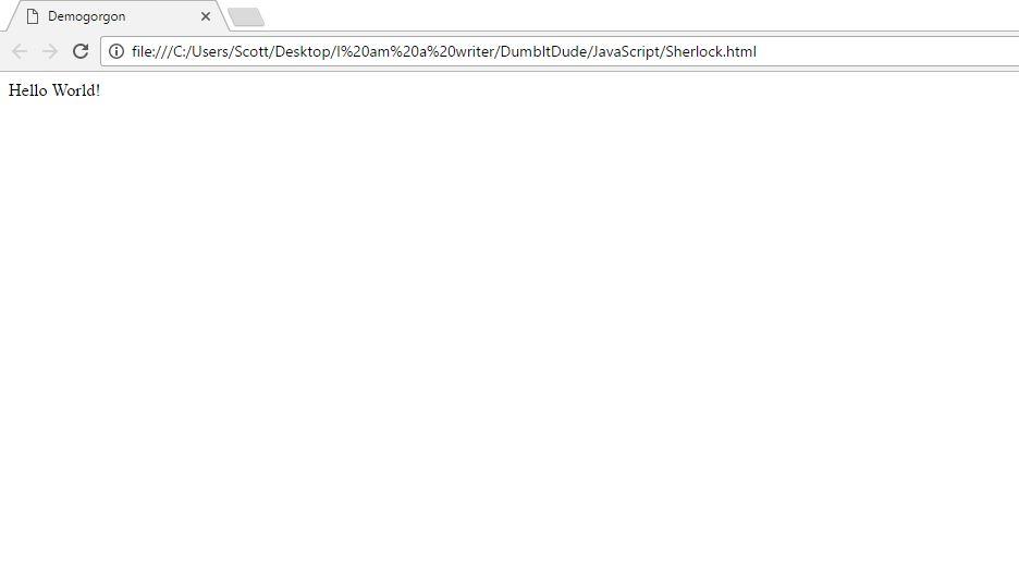 Javascript Hello World image javascripting