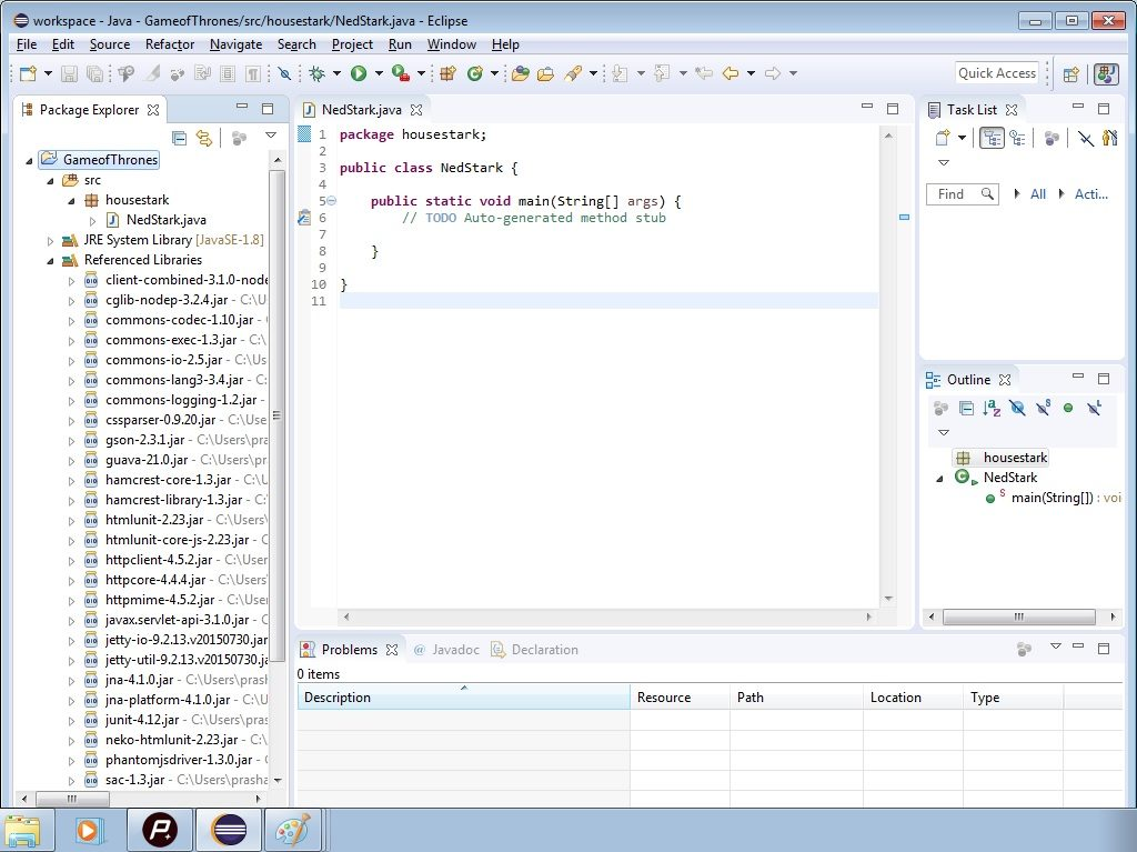 Referenced Libraries in Eclipse
