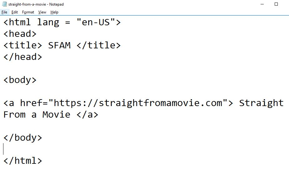 image of how to use links using href attribute in html