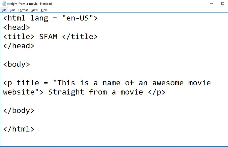 image of how to use title attribute in html