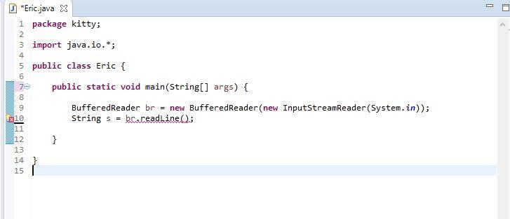 calling readLine method of BufferedReader class