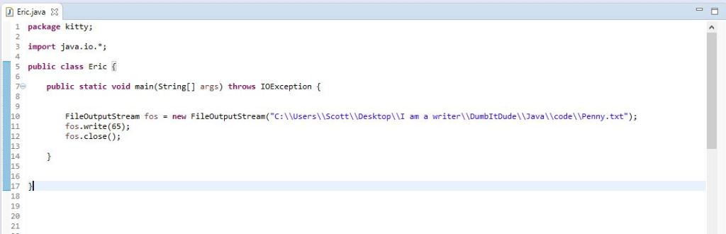 using write method to display byte info