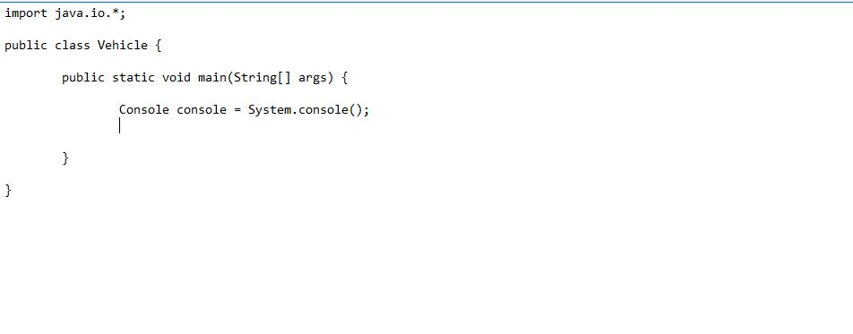 writing console class syntax in java