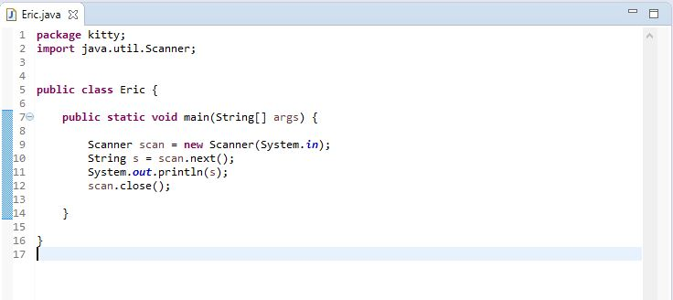 image of scanner class usage to display string
