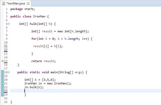 array as return type in java