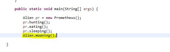 calling a static method via interface