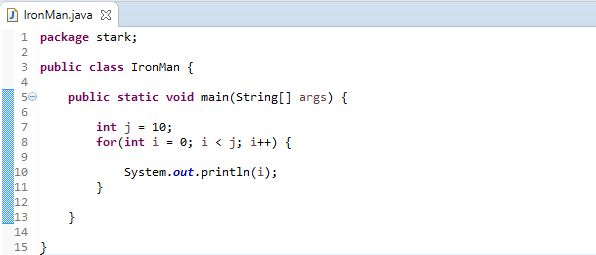 for loop example java loop