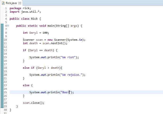 example of if else if ladder in java