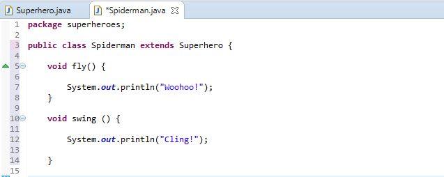 methods in Spiderman class