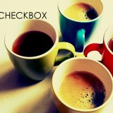 four coffee cups checkbox in java gui awt