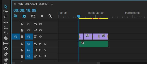 move video audio down the timeline