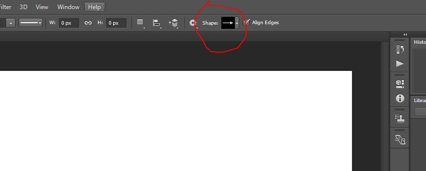 shape option in photoshop