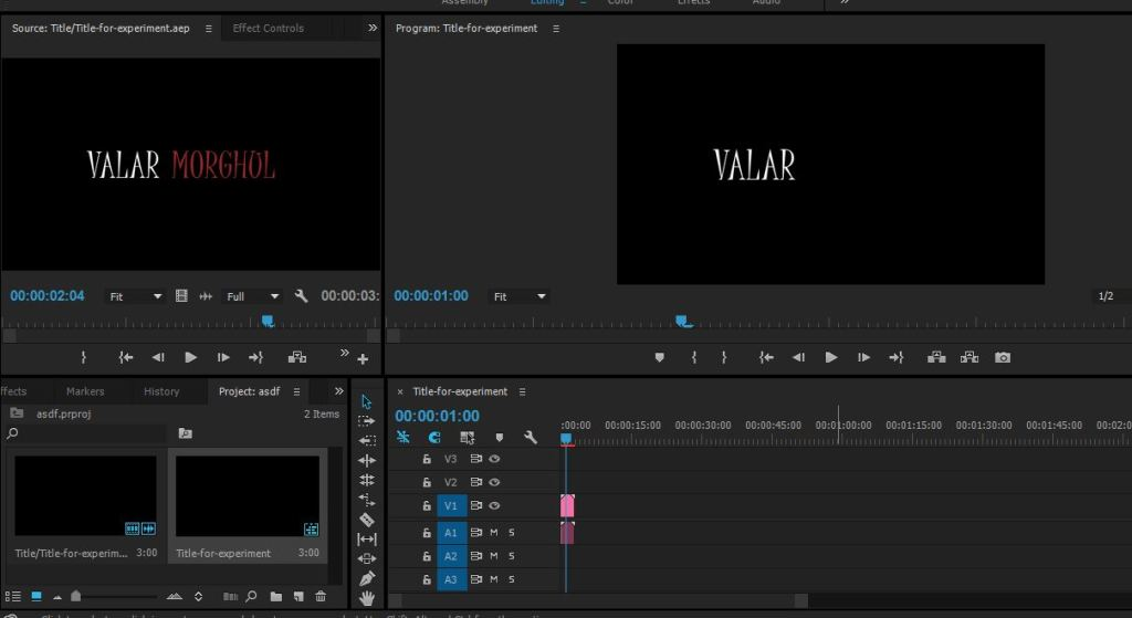 start working in premiere pro