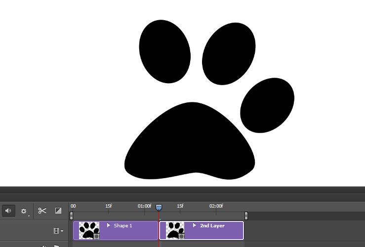 paw without a finger photoshop logo