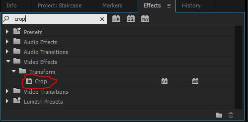 crop effect in transform video effects