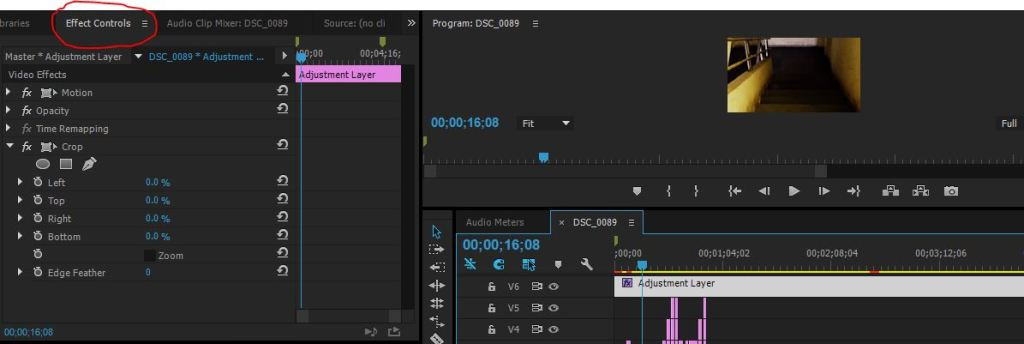 effect controls panel in premiere pro