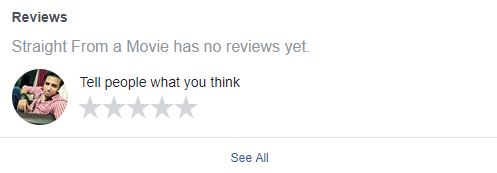 facebook reviews and ratings option