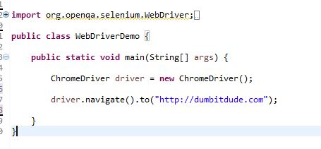 Navigate to Example for Selenium Commands