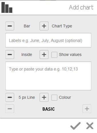 add chart option in videoscribe