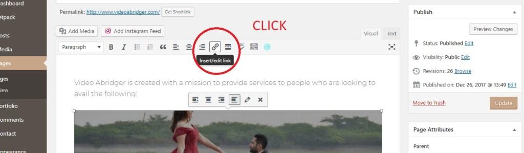 insert edit button in editor