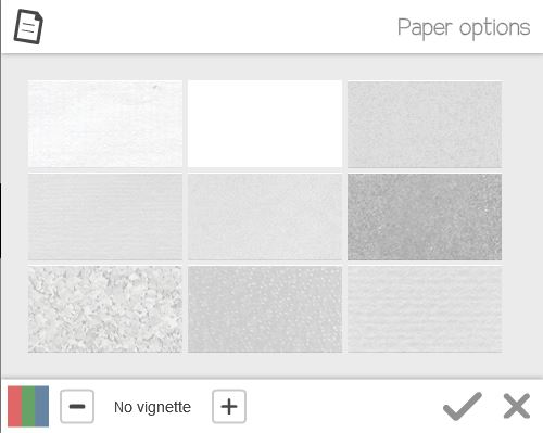paper options in videoscribe