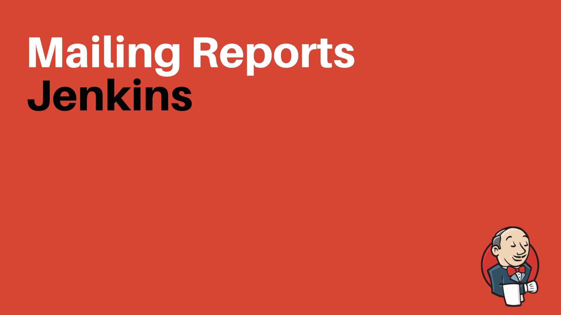 How to Mail Reports Through Jenkins | Configuring Email