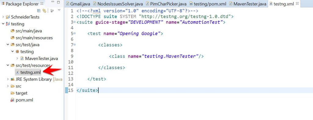 testng location in eclipse