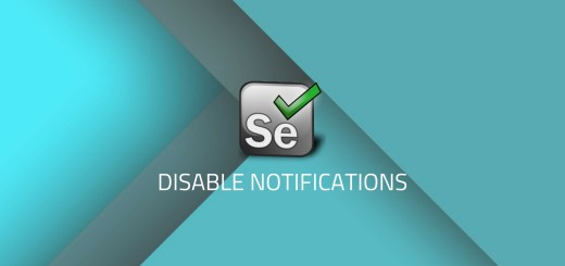 how to disable notifications in facebook using selenium