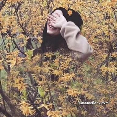Beautiful hijabi girl in fields