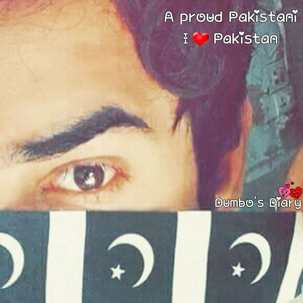 Boy face with pakistani flag dp