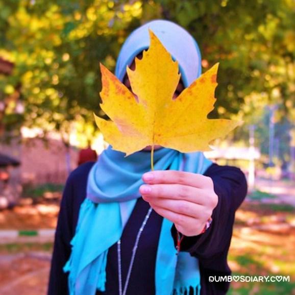 Cute muslim girl dp hidden face