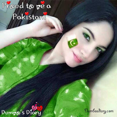 Girly-DP-with-Pakistan-Day-status