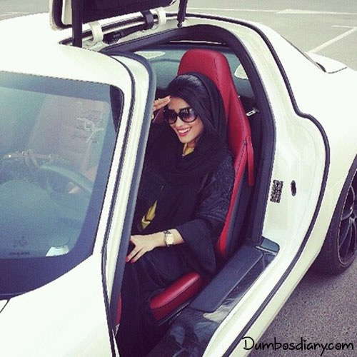 dp muslim hijab girl in car