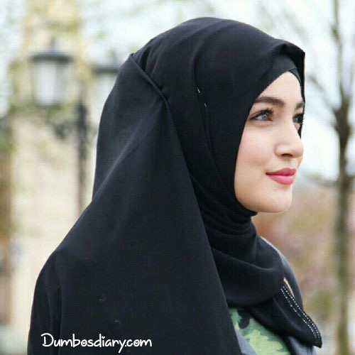 muslim hijab girl smile face dp