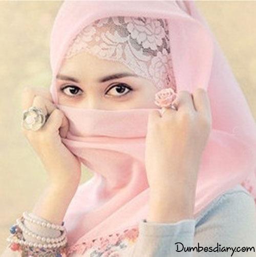 muslim hijab girl pink scarf dp
