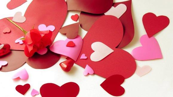 Love heart pink wallpaper