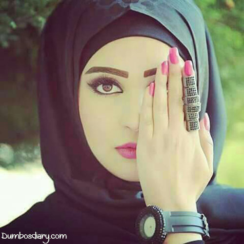 Muslim girl beautiful ring